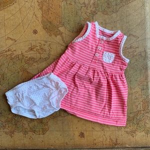 Carters summer dress w/ bloomers 3 month